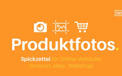 Produktfotografie: Spickzettel, Podcast, Onlinekurs